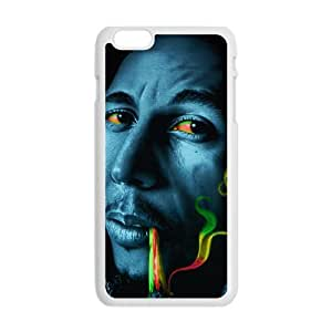 Bob marley rasta smoke Phone Case for Iphone 6 Plus