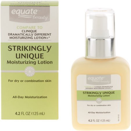 ONLY 1 IN PACK Equate Strikingly Unique Moisturizing Lotion Dry Combo Skin, 4.2 Fl Oz (Compare to Clinique Dramatically Different Moisturizing - Compare Stores
