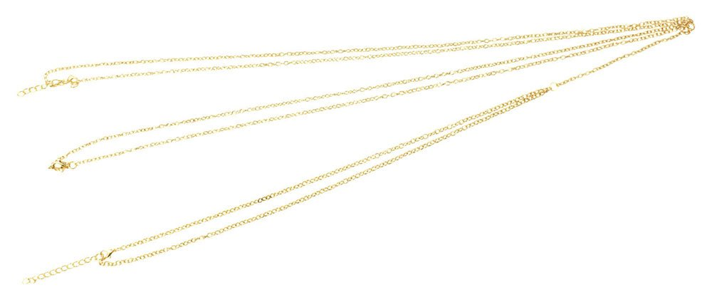 Hot Sexy Simple Unibody Bilayer Gold Tassels Body Chain Necklace