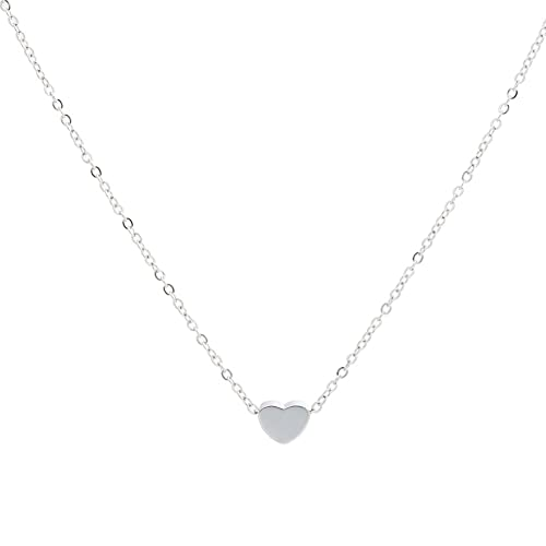 Jude Jewelers Stainless Steel Sliding Float Heart Shaped Charm Necklace