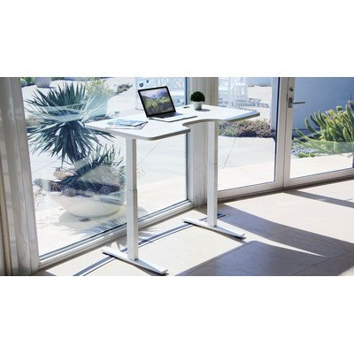 Autonomous SmartDesk - Height-Adjustable Standing Desk - Single Motor - DIY White Frame (Table top not included)