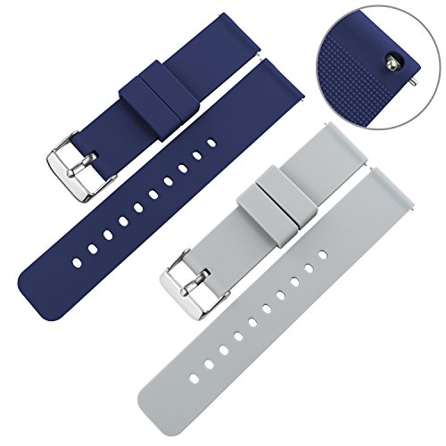 Swatch Replacement Rubber Strap Watch 22mm (Black) - 2