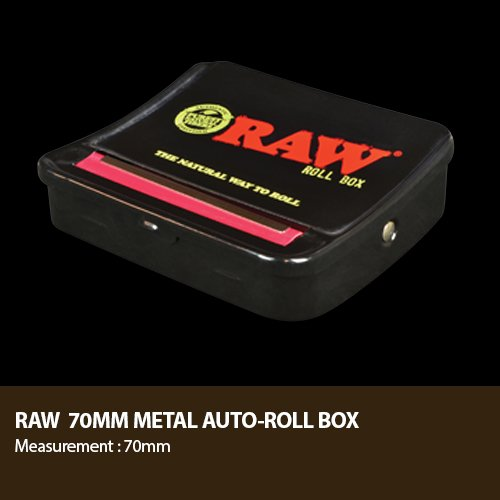 RAW Natural Unrefined Rolling Papers - Automatic Rolling Box - 70mm King Size by RAW