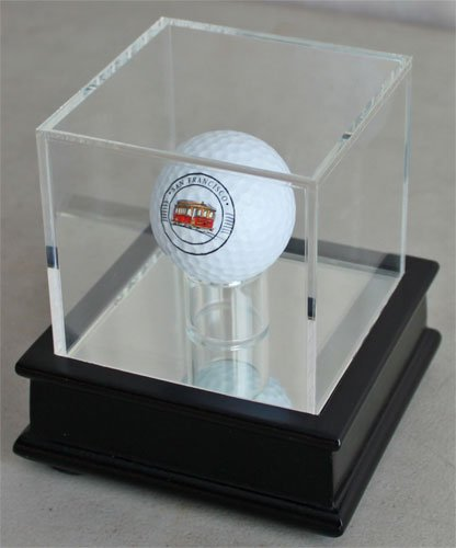 - Golf Ball Display Stand Case GB13-BLA (Black Stand)