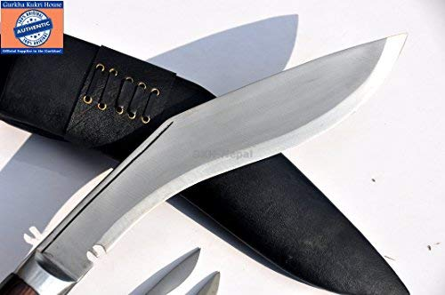 Authentic Gurkha Knife - 12'' Blade World War II 'the Survival alive' Kukri Full Tang with Black Leather Sheath-Handmade by Gurkha Kukri House(GKH) in Nepal -Warehoused & Ship from USA