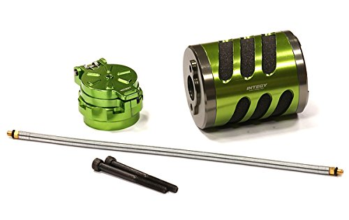 Integy RC Hobby BAJ258GREEN Type V Air Filter w/ Back Pressure Fuel Tank Cap for HPI Baja 5B2.0, 5T & 5SC (Hpi Savage Fuel Filter compare prices)