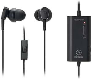 Audio-Technica ATH-ANC33IS - Auriculares in-ear con micrófono (control remoto integrado), negro