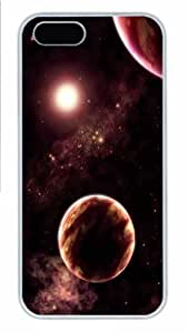 Hot iPhone 5S Customized Unique Print Design Planets Universe 18 New Fashion PC White iPhone 5/5S Cases