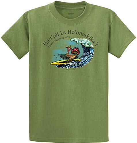 Koloa Surf Tall Surfing Turkey Heavyweight Cotton T-Shirts-DustyBrown/c-4XLT