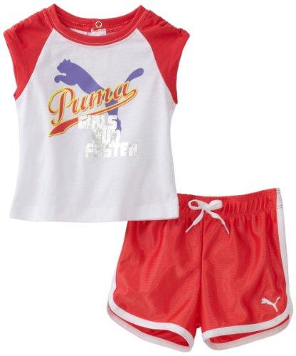 PUMA   Kids Baby Girls' Jersey Reglan Tee And Dazzle Short