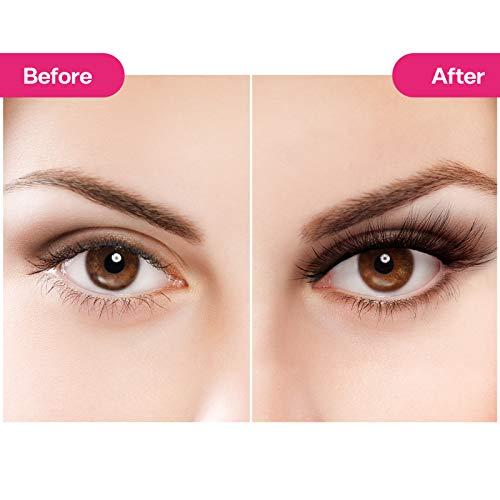 CALAILIS 3D Mink Eyelash, Vegan False Eyelashes, 5D Fake Eyelashes, Fluffy Volume Dramatic Handmade 3D Layered Effect Reusable Eyelashes 3 styles CFD301 6