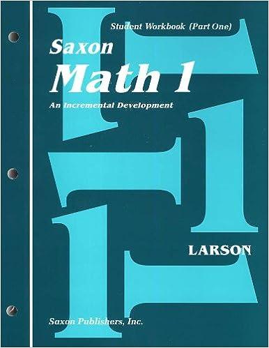 Saxon Math 1st Grade Student Workbooks And Meeting Book Larson