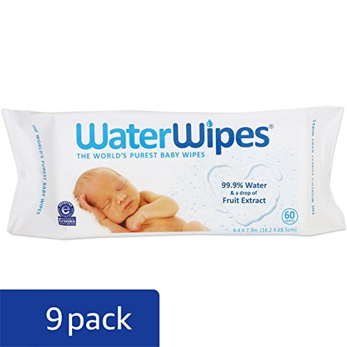 Large Product Image of WaterWipes Sensitive Baby Wipes, 9 Packs of 60 Count (540 Count)