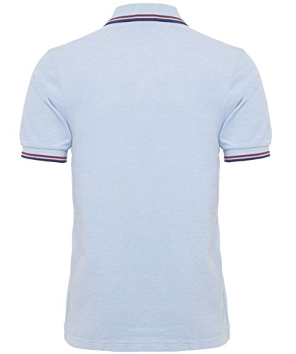 Fred Perry Slim Fit Twin Tipped Polo Shirt S Light Blue