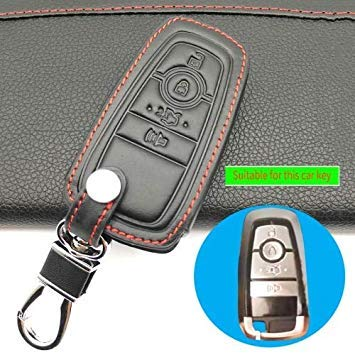 Wowobjects Leather Car Key Cover For Ford Ecosport Key