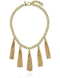 "Hazel Multi-Tassel Mini Necklace, 16"" + 2"" Extender"