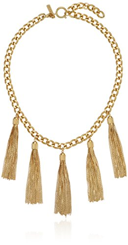 "Boho-Chic Vacation & Fall Looks - Standard & Plus Size Styless - Rachel Zoe Jewelry Hazel Multi-Tassel Mini Necklace, 16"" + 2"" Extender"