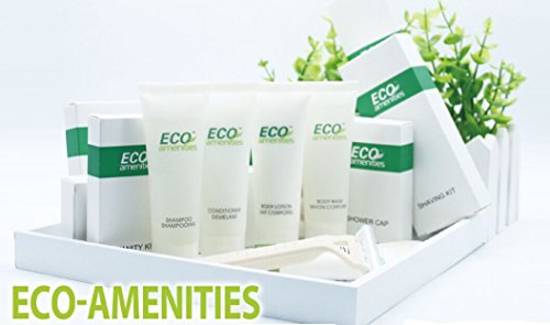 ECO-AMENITIES-Transparente-Tubo-Flip-Cap-Envueltas-Individualmente-30ml-Shower-Gel-72-Tubes-per-Caso