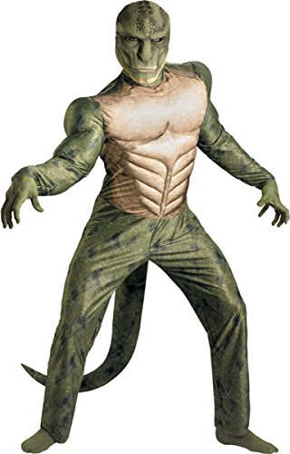 Disguise Marvel The Amazing Spider-Man 3D Movie Lizard Classic Muscle Adult Costume, Green/Tan, X-Large/(42-46)
