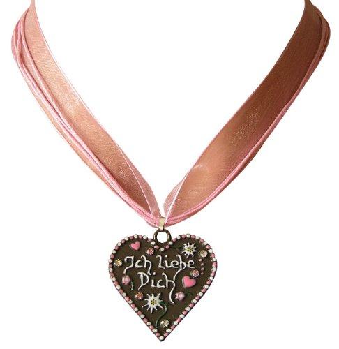 Ois Echt® Trachtenschmuck Lebkuchenherz Trachtenkette - Herz mit der Aufschrift