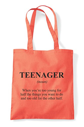 Not Shopper Tote Dictionary Funny The In Coral Teenager Alternative Definition Bag tfwq6z6