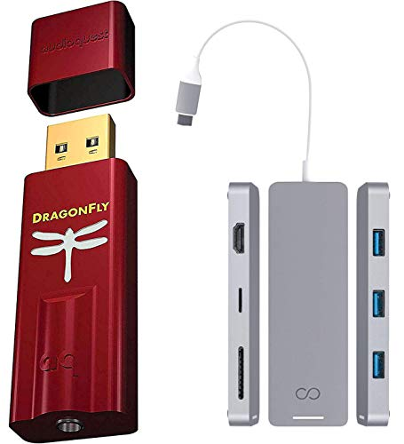 AudioQuest Dragonfly Red USB DAC/Headphone Amplifier/Preamp Bundle