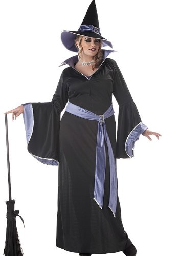 Glamour Costumes (California Costumes Women's Plus-Size Incantasia The Glamour Witch Plus, Black/Purple, 3X)
