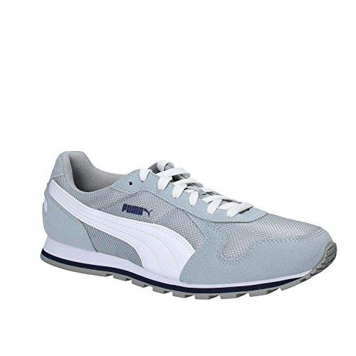 bianco Running Scarpa St Bianco Puma Runner blu limestone white Peacoat Mesh gzdIq