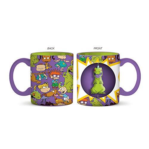 Silver Buffalo NI12513H Nickelodeon's Rugrats Characters Ceramic Mug with Spinner, 2-Ounces, 20, -