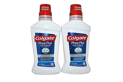 Phos Flur Anti Cavity Fluoride Rinse, Cool Mint, 16.9-Ounce Bottle (Pack of 2) by Phos Flur