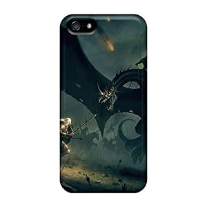 Awesome Design Dragon Slayer Hard Case Cover For Iphone 5/5s