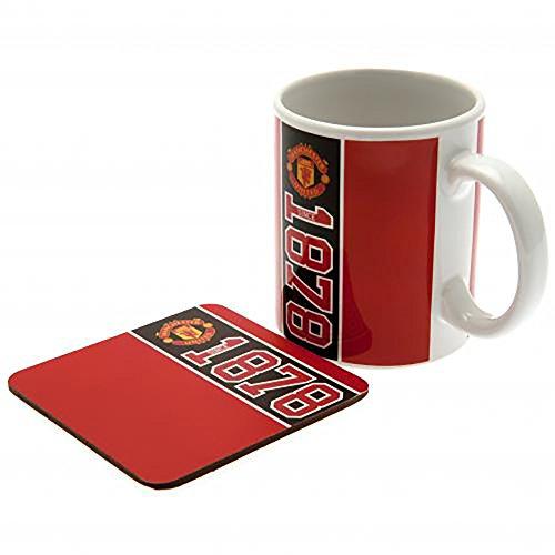 Official Licensed Manchester United F.C - Mug & Coaster Set by Official Licensed