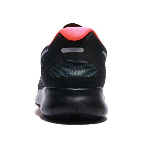 Nike Womens Free Rn 2017 Scarpa Da Corsa Antracite / Argento Metallizzato / Nero