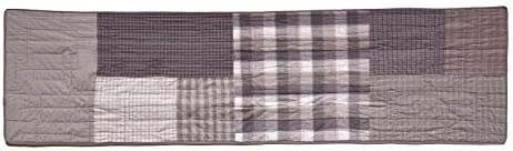 Donna Sharp Valance – Smoky Square Contemporary Decorative Window Treatment with Patchwork Pattern