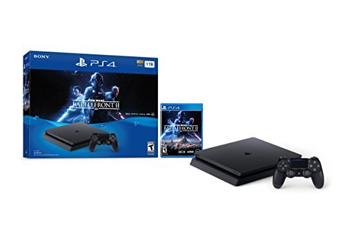 PlayStation 4 Slim 1TB Console - Star Wars Battlefront II Bundle [Discontinued] (Renewed)