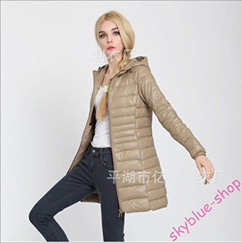 XS Thin Asia Jacket S Slim Ladies Colors Champagne UK Down Fit Coat Long Parka L Asia Black New M Candy UK Outwear Hooded aqPwR0