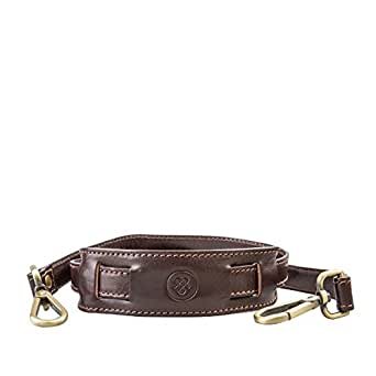 Maxwell Scott® Luxury Italian Leather Replacement Strap for Luggage / Briefcases, Brown