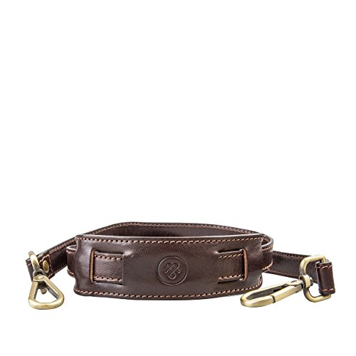 Embossed Bag Leather Shoe (Maxwell Scott Luxury Brown Leather Briefcase Shoulder Strap - One Size)