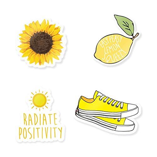 "Cute Yellow Stickers - 3"" Vinyl Stickers"