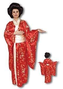 Geisha Kimono Traje superior rojo