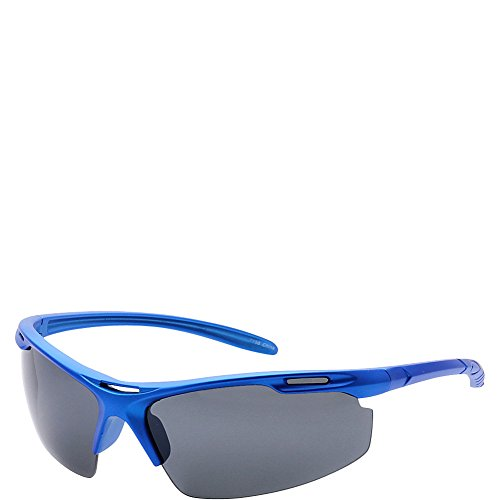 SW Global Half Framed Outdoors Sports UV400 Sunglasses (Blue - Half Framed Glasses