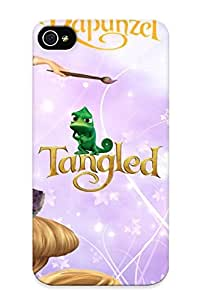 Iphone 4/4s Hard Back With Bumper Silicone Gel Tpu Case Cover For Lover's Gift Tangled