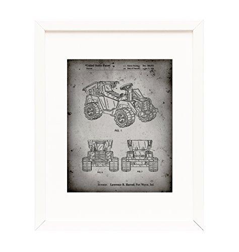 Kids Dump Truck Framed Patent Print