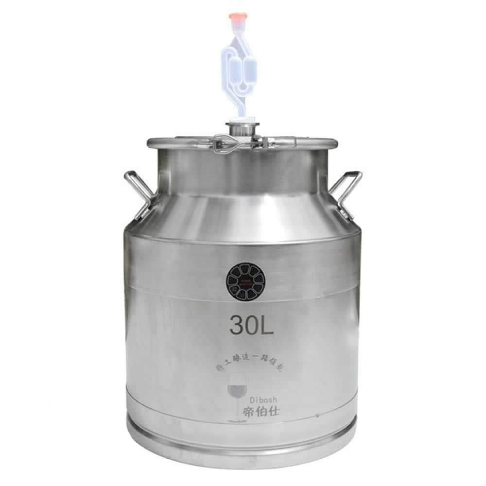 30L Hook Design Fermentation Barrel Home Wine Making Milk Barrel without Faucet