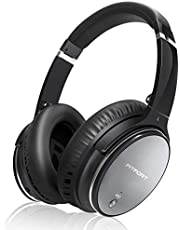 Noise Cancelling Kopfhörer HiFi Stereo Bluetooth Wireless Headset Over Ear mit Duale 40 mm HD Tieftontöner für alle Geräte mit Bluetooth oder 3,5 mm Klinkenstecker