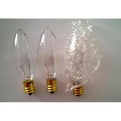 Set of 3 Touch Light Bulbs for OKL 24 Inch Touch Lamp 15-Watt Light Bulbs