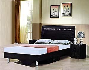Galaxy Design Bedroom Set, Dark Brown Color Finishing GDF-8101
