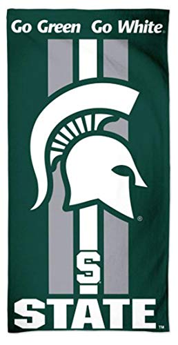 McArthur Michigan State Spartans Go Green Go White NCAA 30 X 60 Inch Beach Towel