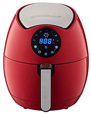 GoWISE-USA-GW22644-4th-Generation-1400W-Electric-Air-Fryer-with-Touch-Screen-Technology--Button-Guard---Detachable-Basket--3-7-quart--Chili-Red
