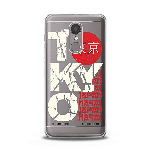 Lex Altern TPU Case for Lenovo Phone K8 Note K6 Note 2017 K5 Plus Z5 Tokyo Slim fit Design Journey Lightweight Smooth Capital Flexible Boy Clear Red Cover Japan Soft -
